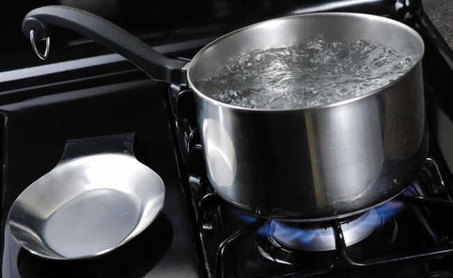 Ferver água desnecessariamente