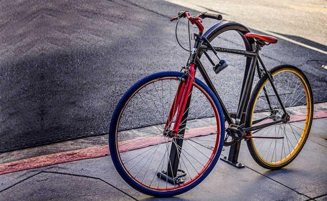 Bicicleta com cadeado
