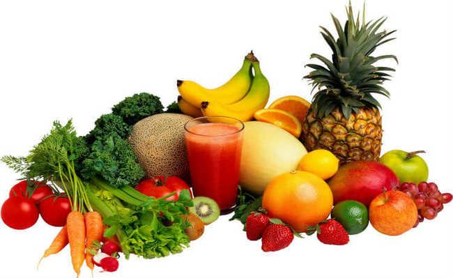 Alimentos: frutas e vegetais