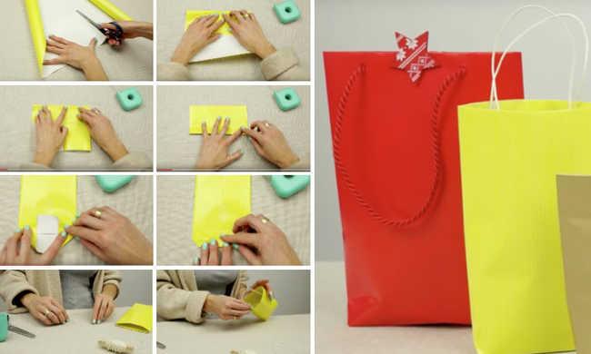 sacola de papel para presentes