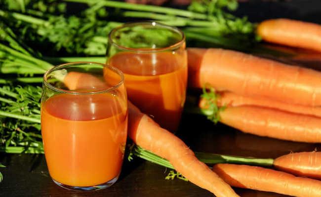 suco de cenoura para pressão baixa