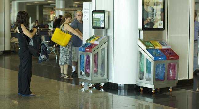 Coleta seletiva no aeroporto