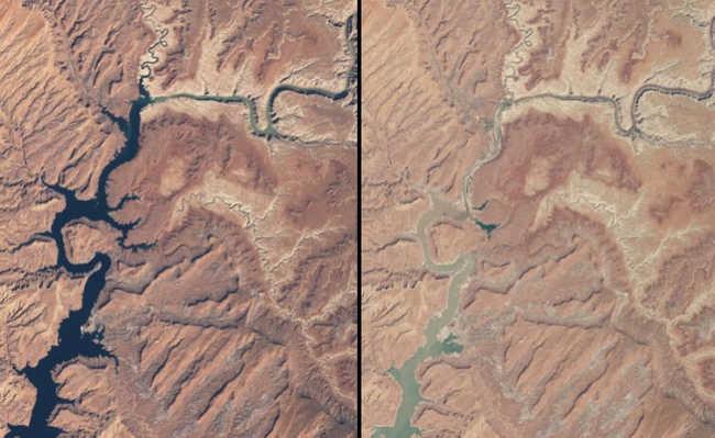 À esquerda, 25 de março de 1999. À direita, 13 de Maio de 2014
