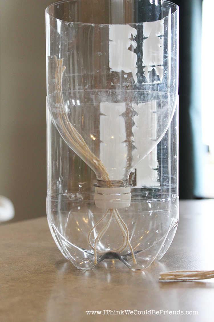 como fazer vaso autoirrigável