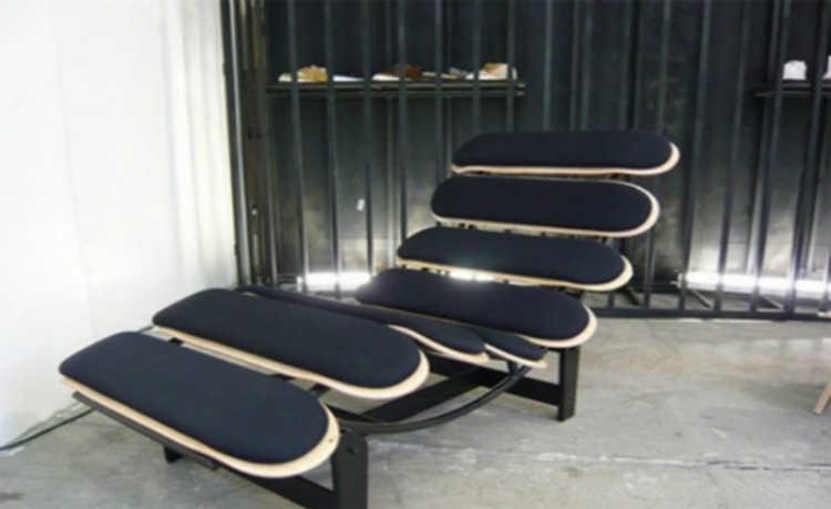 Skates podem se transformar em mobílias confortáveis