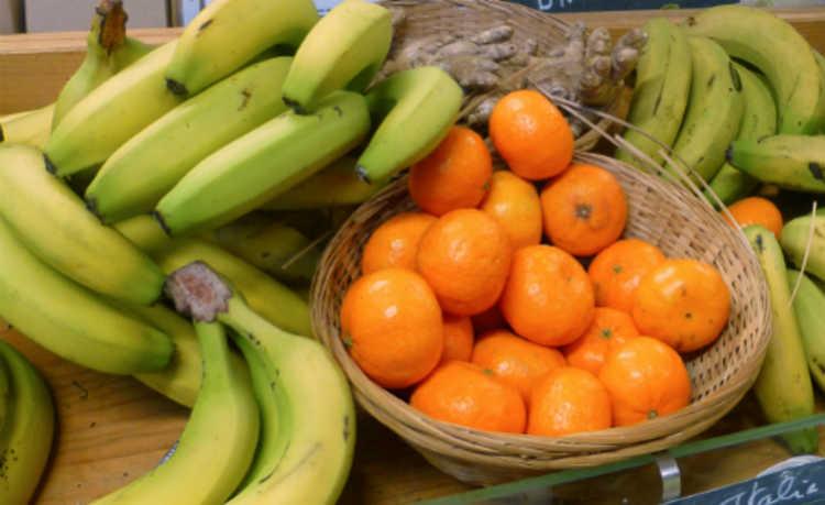 Banana e laranja
