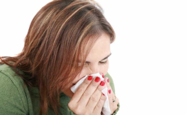 Mulher gripada