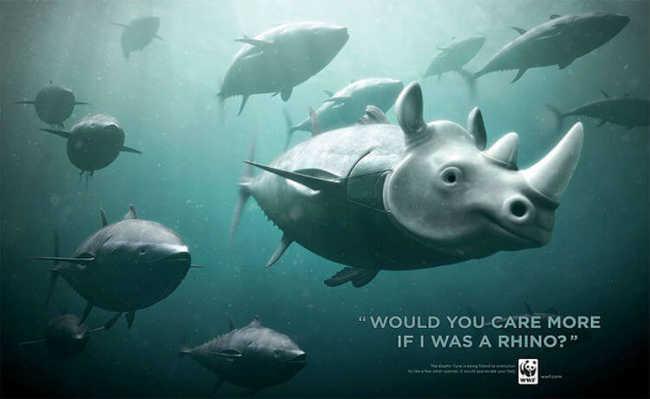 Atum: você se importaria mais se fosse um rinoceronte?