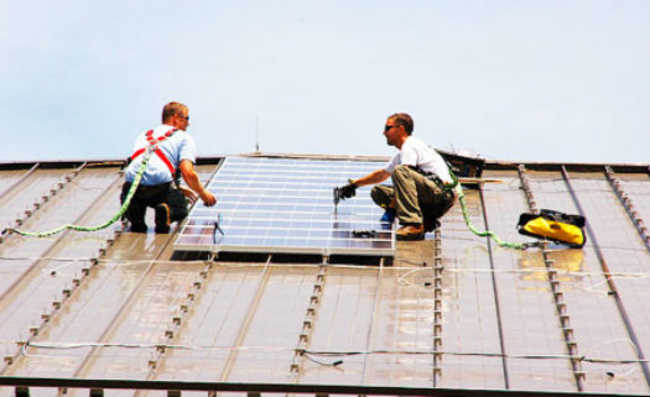 Instalando energia solar