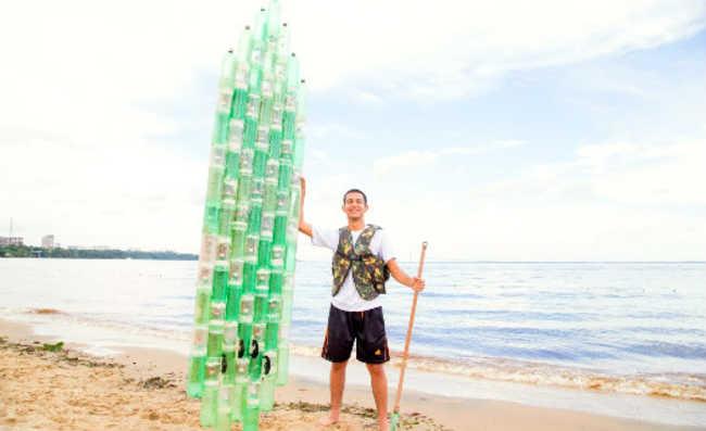 prancha ecológica com garrafas PET