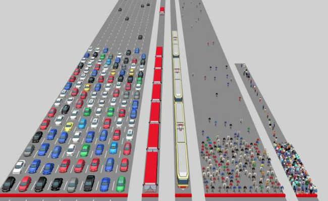 Carros, ônibus, trens, bicicletas e as próprias pernas