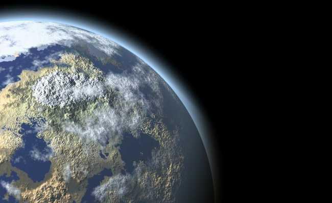 Espaço e planeta Terra