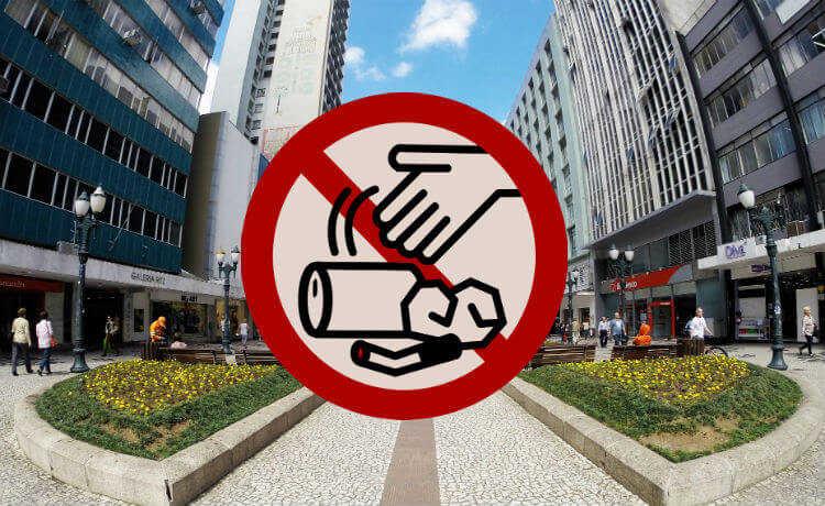 Placa proibido jogar lixo