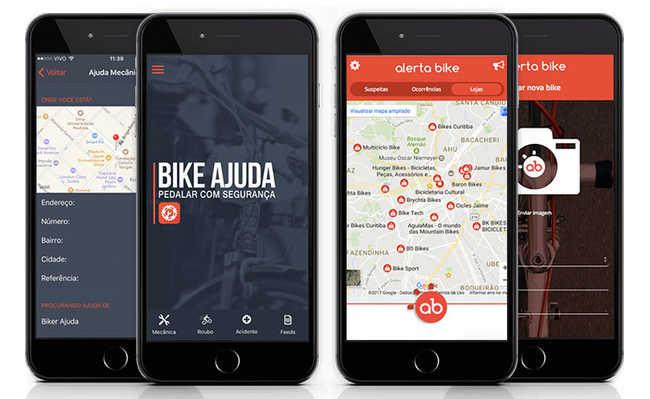 Ciclistas desenvolvem aplicativos para ajuda mútua