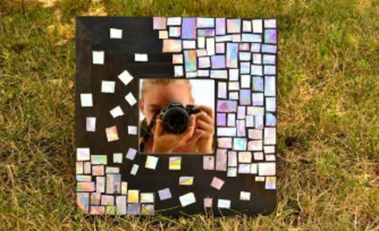 Espelho em mosaico