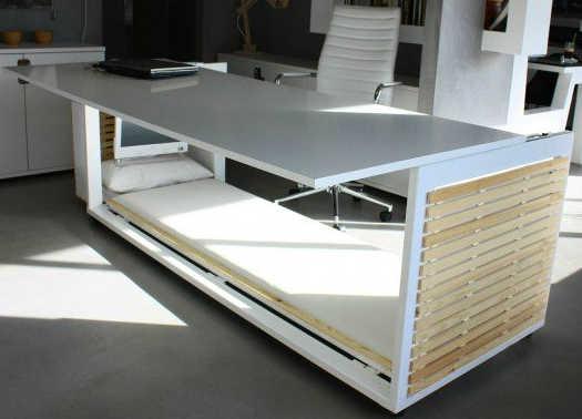 Mesa de escrit rio que vira cama trunfo para evitar for Cama oficina