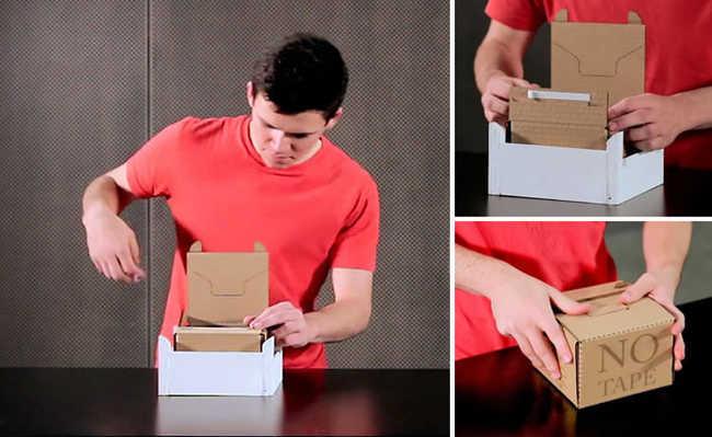 Caixa de papelão inovadora demora dez segundos para ser montada