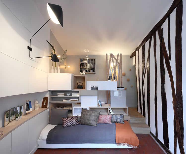 V deo arquiteta faz milagre em apartamento de 12 for Como decorar un estudio de 20 metros cuadrados