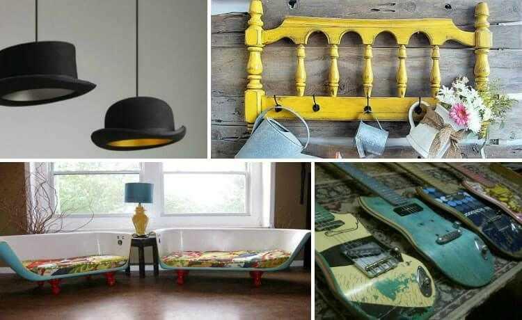 Upcycle de decoração de interiores