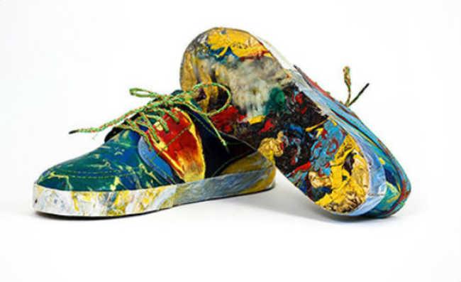Sapato é feito 100% com material retirado de um rio