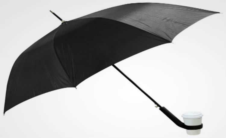 Guarda-chuva com porta-copo