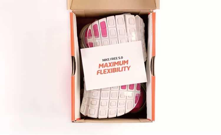 Embalagem de tênis tem 1/3 de quantidade padrão de papelão