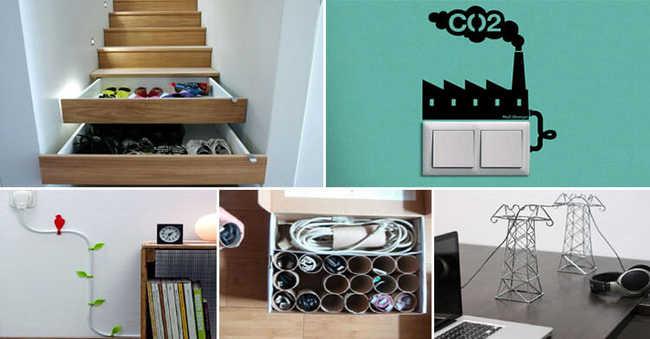 Reaproveite itens para esconder as partes bagunçadas da sua casa