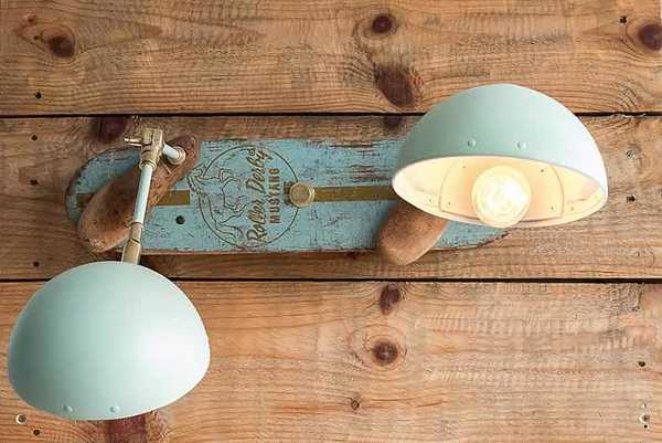 Luminária vintage é feita com reaproveitamento de um dos skates mais antigos do mundo