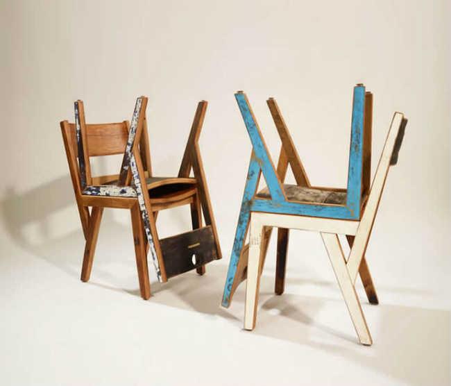 Cadeiras de barris de carvalho
