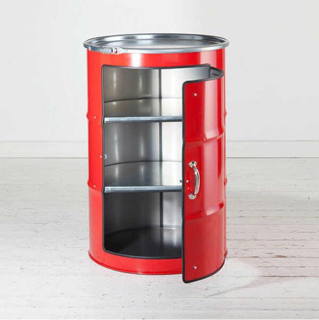 Schränk, o tambor de óleo que virou armário