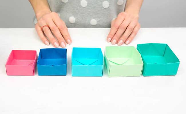 caixinhas de origami para decoração