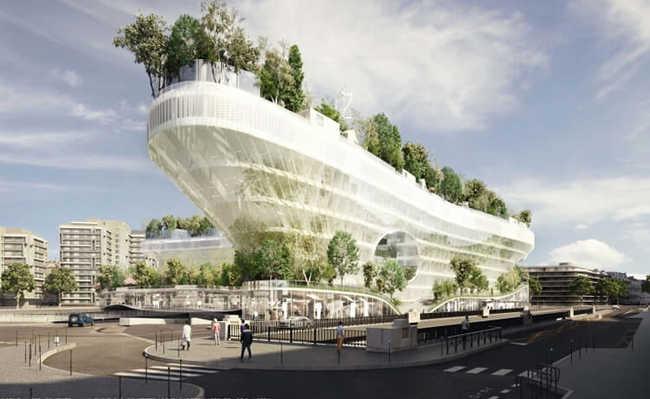 Antigo estacionamento em Paris se transformará em edifício cheio de vegetação e com energia limpa