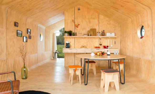 casa feita de papelão
