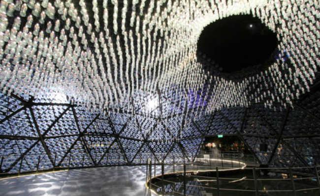 instalação artística em Hong Kong