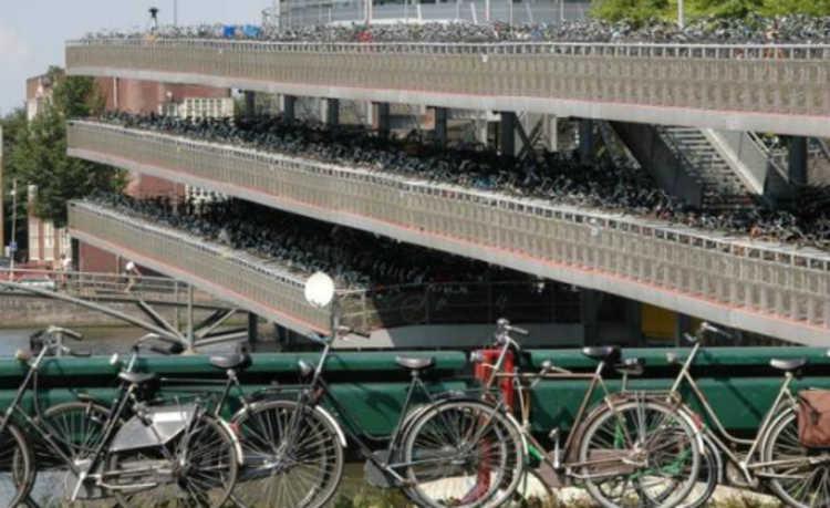 Estacionamento da bicicleta