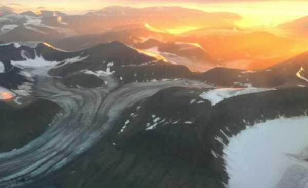 geleira em retração na Noruega