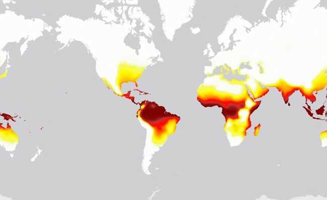 Mapa de calor em 2100