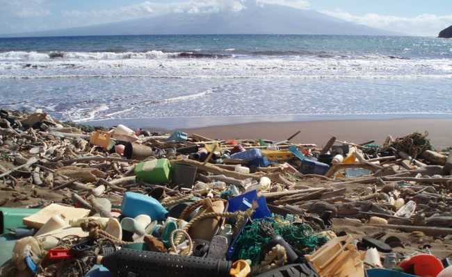 Plástico nas praias