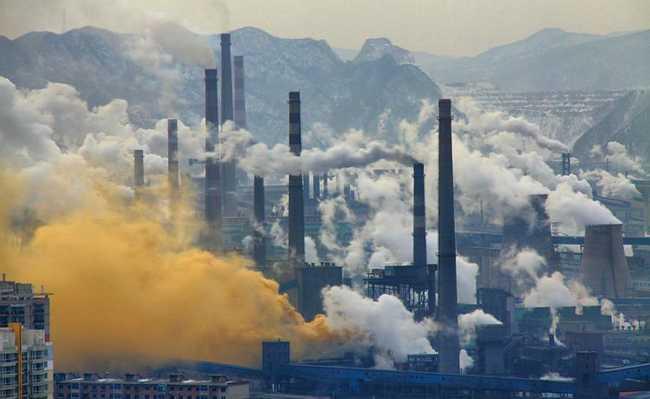 Fábricas emitindo CO2