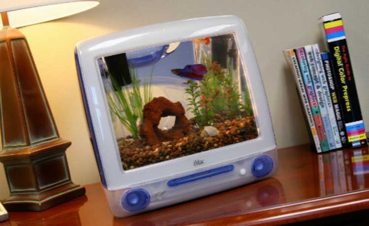 Americano transforma iMac antigo em aquário