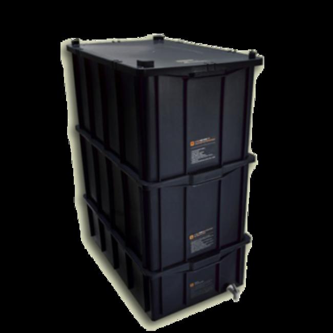 Composteira doméstica kit GG + minhocas californianas