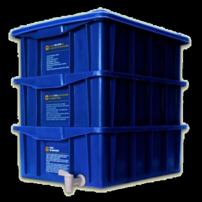 Composteira doméstica kit P + minhocas californianas
