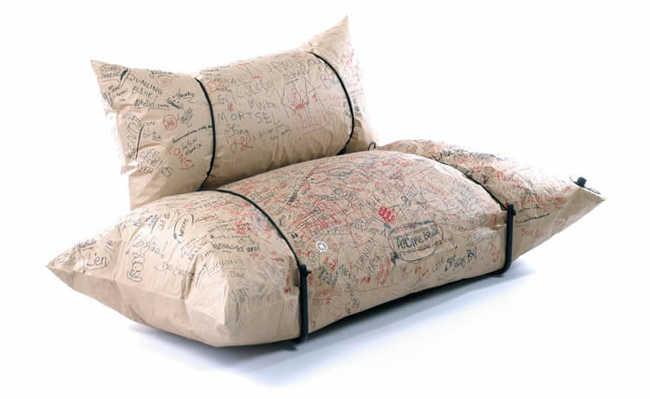 Blow Sofa: o sofá sustentável feito com papel reciclável