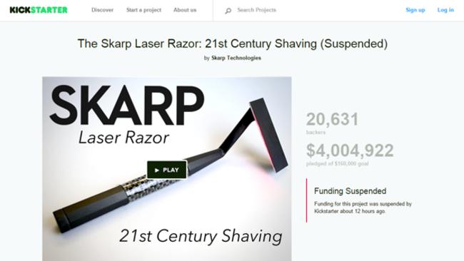 Projeto suspenso no Kickstarter