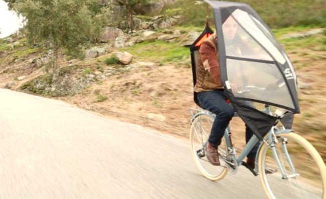 guarda-chuva da bike