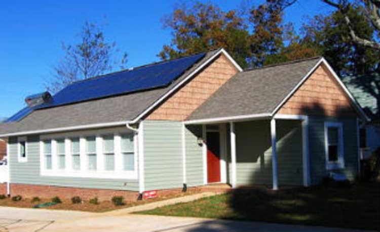 Casa com energia renovável