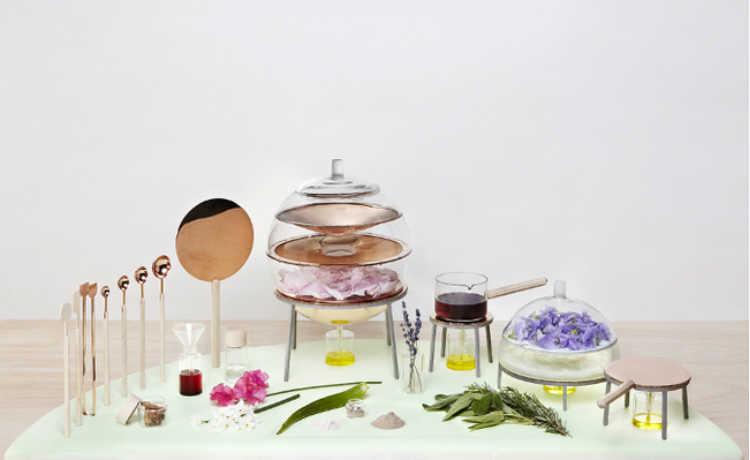 instrumentos para produção caseira de cosméticos