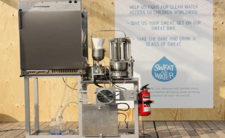 Máquina que transforma suor em água potável