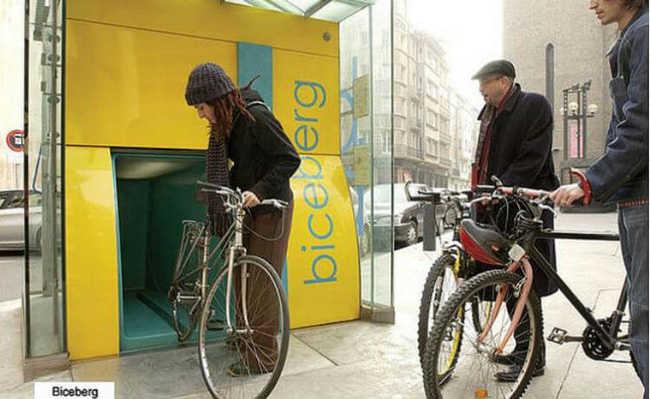 Biceberg: o estacionamento subterrâneo de bicicletas