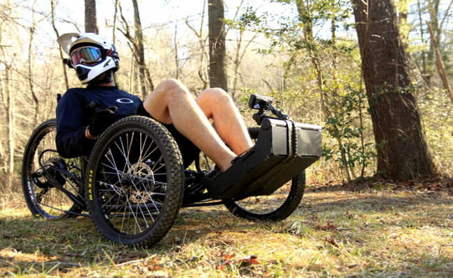 Projeto de bike off-road é adaptado a todos os tipos deficientes físicos